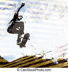 Skateboarding Grunge Layout - A grungy skateboarding layout...