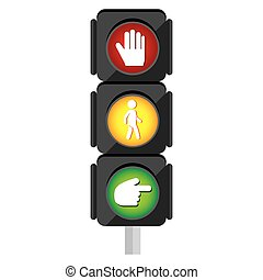 traffic light signal icon