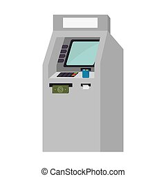 atm service isolated icon vector illustration design