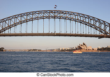 Sydney Harbour Bridge from Parramatta river