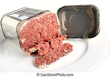 English-style corned beef - A tin of corned beef or bully...