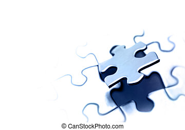 Jigsaw puzzle - Piece of jigsaw puzzle Copy space