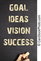 Human Hand Writing Goal Ideas Vision Success