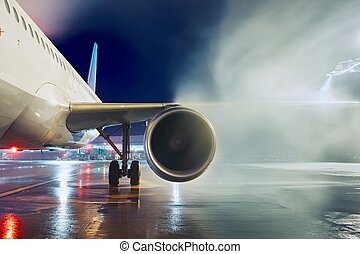 Deicing of the airplane