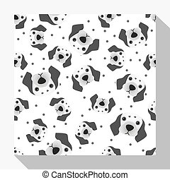 Animal seamless pattern collection with dalmatian dog