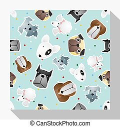 Animal seamless pattern collection with dog 3 - Animal...