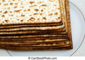 Matzot - Stack of matzot matzah - unleavened bread Symbol of...