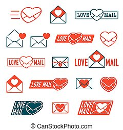Large collection of Love, Mail and Envelope icons - Large...