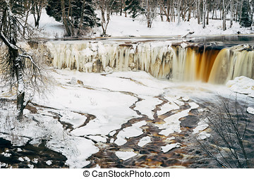 Keila-Joa waterfall by winter, Estonia - Keila-Joa waterfall...