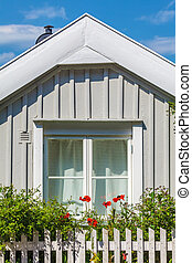 Small Swedish ancient woorden house - Small ancient woorden...