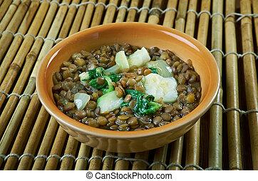 Lebanese Lentil Soup - Adas Bil Hamod - Lebanese Lentil...