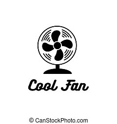 cool fan icon on white background. Vector illustration.