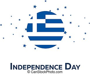Independence day of Greece. Patriotic Banner. Vector...