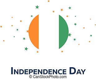 Independence day of Cote d Ivoire. Patriotic Banner. Vector illustration.