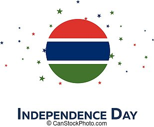 Independence day of Gambia. Patriotic Banner. Vector...
