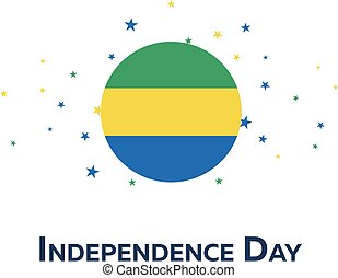 Independence day of Gabon. Patriotic Banner. Vector...