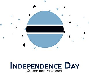 Independence day of Botswana. Patriotic Banner. Vector...