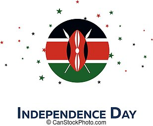 Independence day of Kenya. Patriotic Banner. Vector...