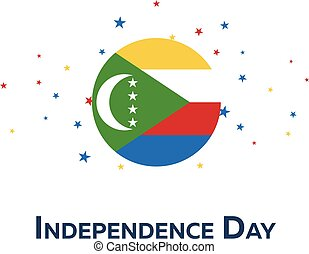 Independence day of Comoros. Patriotic Banner. Vector...