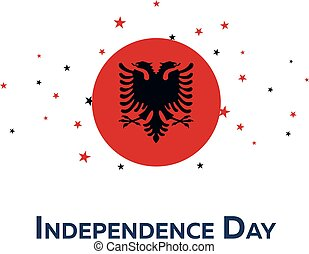 Independence day of Albania. Patriotic Banner. Vector...