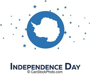 Independence day of Antarctica. Patriotic Banner. Vector...