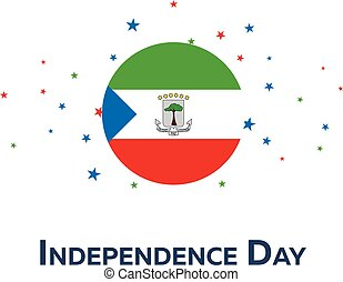 Independence day of Equatorial Guinea. Patriotic Banner....