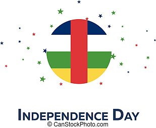 Independence day of Central African Republic. Patriotic...