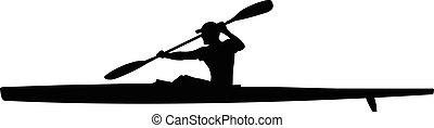 athlete kayaker sport kayak