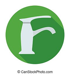 Faucet icon in flat style isolated on white background....