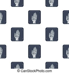 X-ray hand icon cartoon. Single medicine icon from the big...