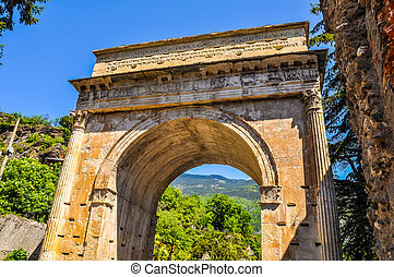 HDR Augustus Arch in Susa - High dynamic range (HDR) Arco di...