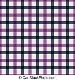 Purple checkered shirt. Seamless pattern. Kitchen cloth