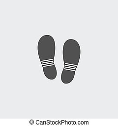 Shoes icon in a flat design in black color. Vector...
