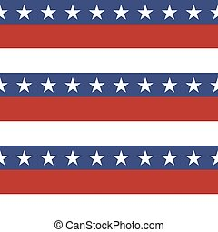 American patriotic stars and stripes seamless pattern in...