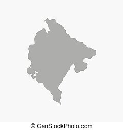San Marino map in gray on a white background