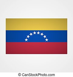 Venezuela flag on a gray background. Vector illustration