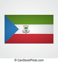 Equatorial Guinea flag on a gray background. Vector...