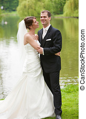 Bride and groom - Beautiful young couple on their big day