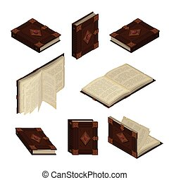 Set of old isometric books - Set of old books or tutorials....