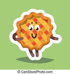 Emoticon Icon Flirty Sweet Pie - Vector illustration...