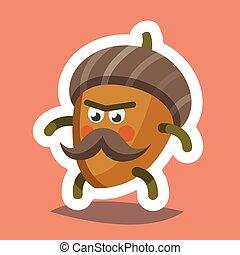 Emoticon Icon Cheeky Nut - Vector illustration emoticon...