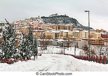 snowy landscape of Campobasso
