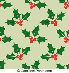 Holly berry pattern - Holly berry Christmas pattern...