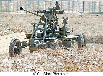 37-mm anti-aircraft gun - The old antiaircraft gun from...