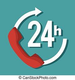 24 hours service symbol
