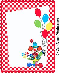 celebration card with a clown