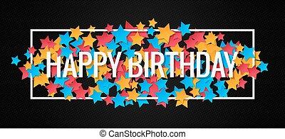 Happy Birthday Banner Design Background