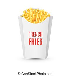 Packaging for French Fries - Big White Pack with French...