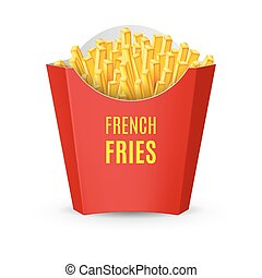 Packaging for French Fries - Big Red Pack with French Fries....