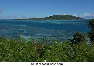Aerial view of the Yasawa Islands in Fiji.
